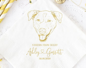 Dogs Cocktail Beverage Pet Occasion Embossed Napkins
