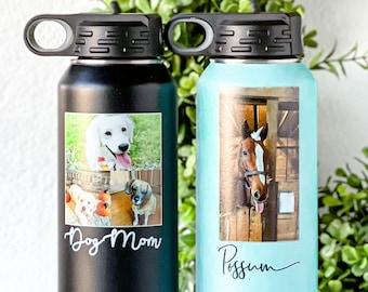 Dog mom tumbler Dog lover Dog mom water bottle Personalized dog tumbler Dog mom drink ware Dog breed tumbler