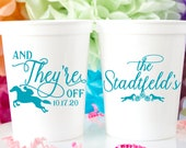 Personalized Stadium Cups, Horse Racing Party Cups, Kentucky Derby Party Favors, Derby Cocktails Cup, Custom Derby Cups, Plastic Cups