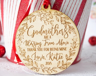 more colors godmother ornament godmother gift christmas
