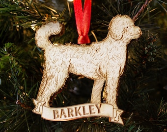 more colors goldendoodle personalized dog ornament christmas - Goldendoodle Christmas Decorations