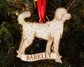 popular items for goldendoodle ornament