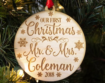 our first christmas ornament etsy