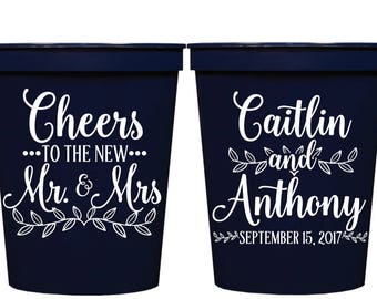 Wedding Cups, Cheers Cups, Stadium Cups , Personalized Cups, Plastic Cups, Bachelorette Party Cups, Custom Stadium Cup, Wedding Guest Favor
