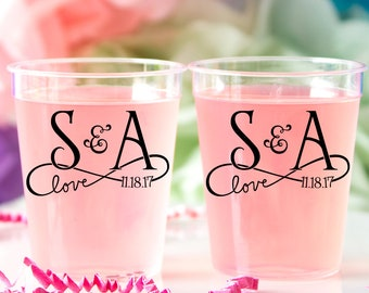Wedding Shot Glasses Plastic Shots Personalized Shots Jello Shots Alcohol Shots Shot Cups Whiskey Shots Tequila Shots Liquor Shots Fun Shots