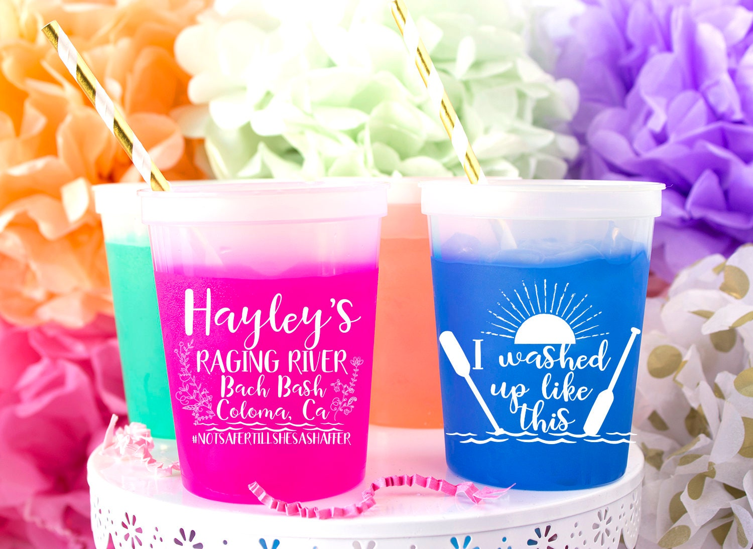 Color Changing Cups Mood Cups Custom Stadium Cups Wedding   Etsy