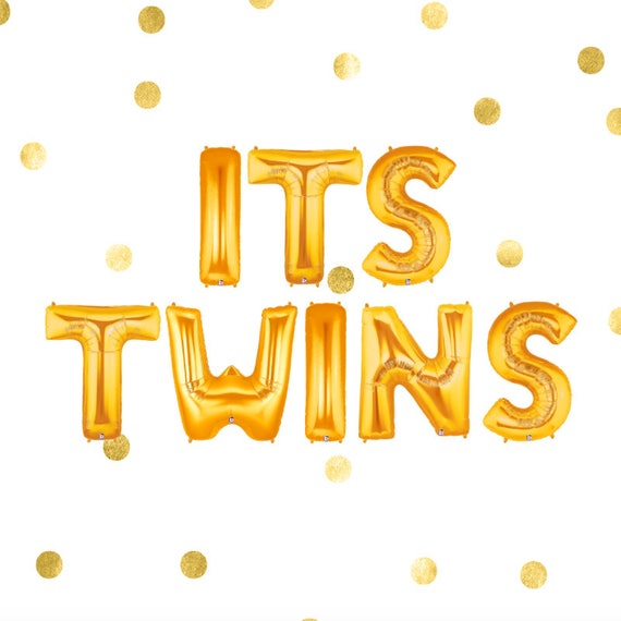 Its Twins Balloons Twins Decorations Twins Baby Shower Etsy