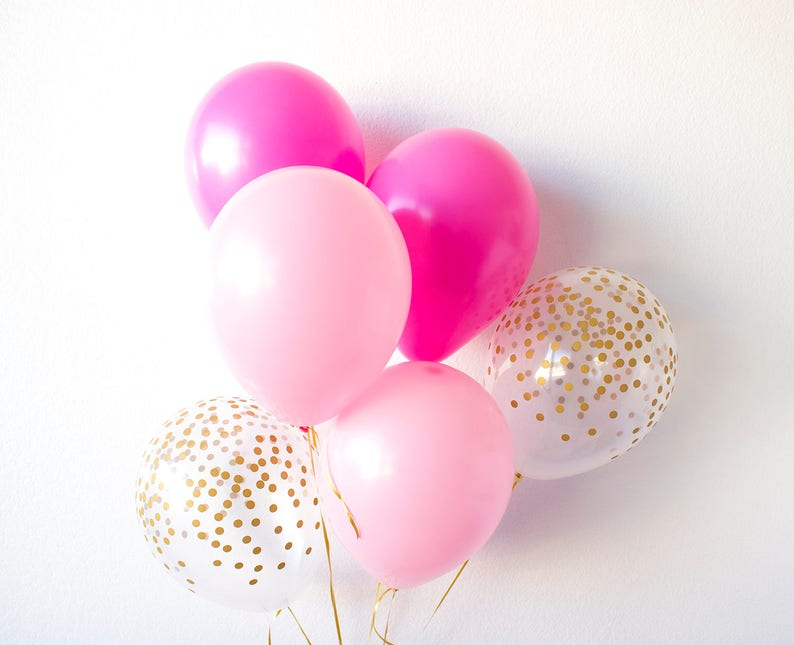 Pink Balloons Party Confetti