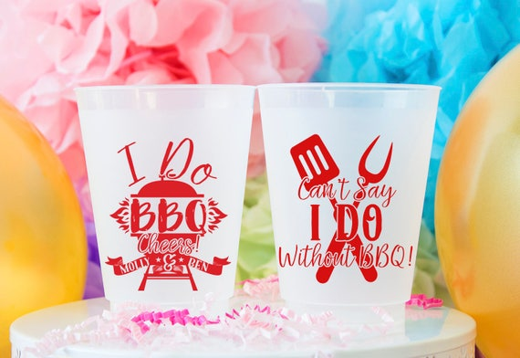 I Do Bbq Party Cup Bbq Shower Pig Roast Personalized Cups Etsy