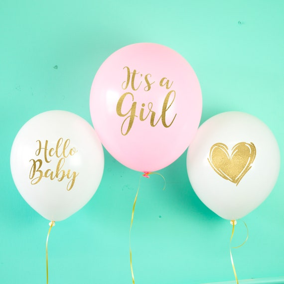 Baby Shower ballons Oh Baby ballons c  est une fille   Etsy b8688331437
