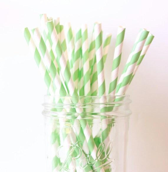 Mint Green Party Straws, Mint Paper Stripe Straws 25, Green Wedding Decor, Mint Green Straw, Rustic Wedding, Party Straws, Paper Straw