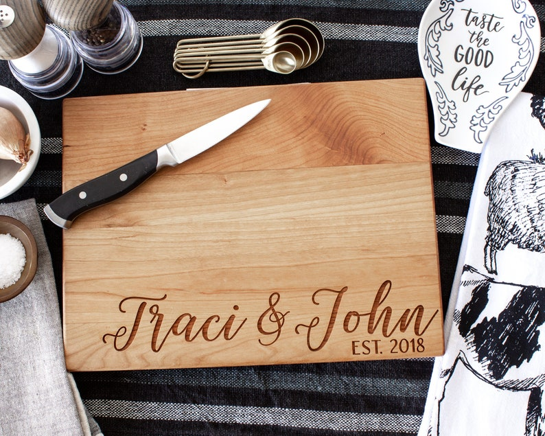 Personalized Cutting Board Wedding Gift for Mom Engraved Cutting Board Custom Cutting Board Housewarming Gift New Home Anniversary Birthday