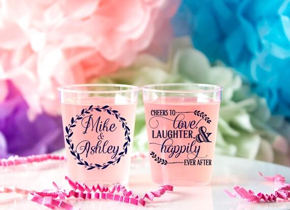 Wedding Shot Glass Personalized Shot Glass Plastic Custom Shot Glass Wedding Favor Shot Party Shot Glasses Bachelorette Shot Glass