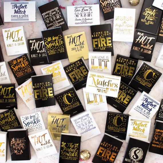 Personalized Wedding Gifts Canada: Personalized Matches Matchbox Wedding Favors Wedding