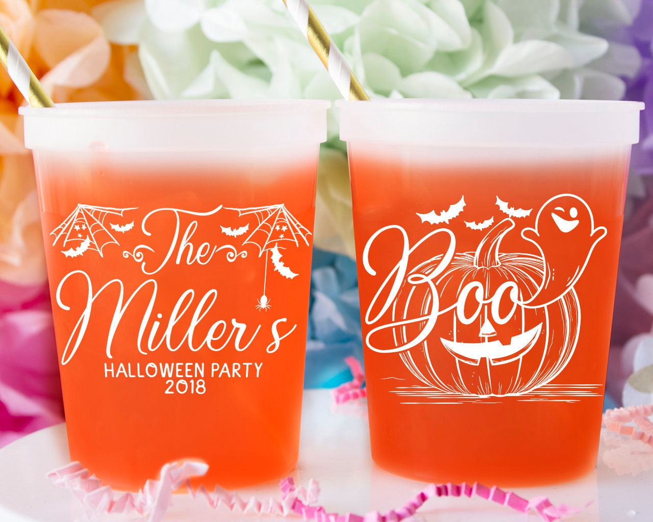 Halloween Color Changing Cups Halloween Wedding Favors For Etsy
