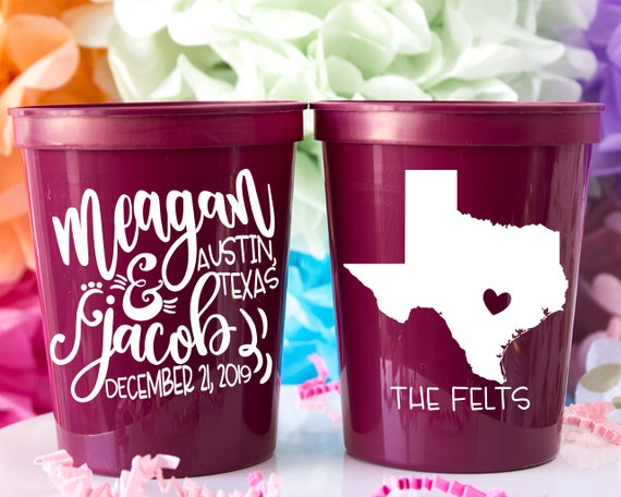 Party Cups Your Design Cups CustomDesign Cups Party Favors Wedding Cups Personalized Plastic Cups