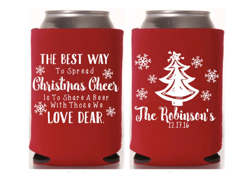 Christmas Wedding Favor Xmas Party Can Cooler Tacky Sweater Party Personalized Ugly Sweater Party Christmas Party Christmas Gifts