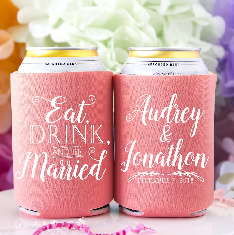 11 Country Wedding Favors Personalized Wedding Coozies Custom Coozie Wedding Favors Home Garden