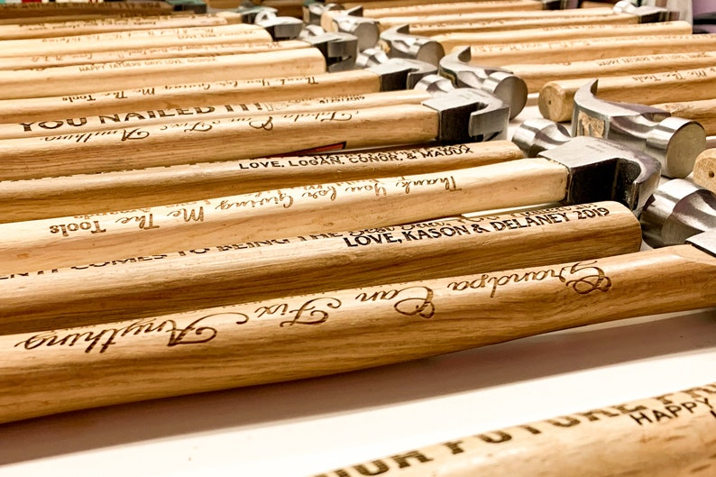 Laser Engraved Hammer Christmas Gift Hammer For Him Best Dad Hammer Hammer Christmas Gift For Husband Personalized Tools For Dad