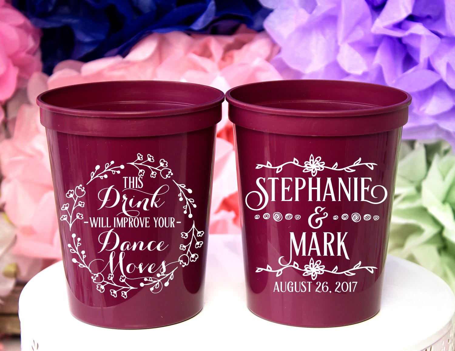 Wedding Cups Custom Cups Party Cups Personalized Wedding