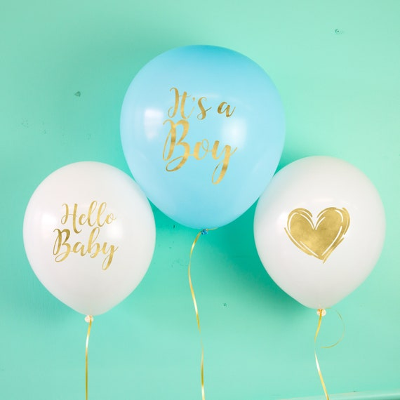 Its a Boy Ballons Baby Party Baby Shower Luftballons Latexballons
