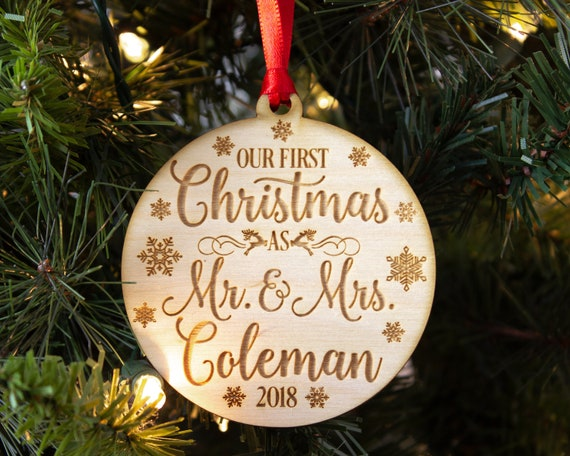 Our First Christmas Ornament Mr & Mrs Gift Christmas Gift | Etsy