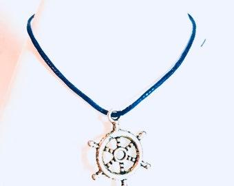 Ships Wheel Bracelet charm bracelet wish bracelet nautical bracelet ocean bracelet ships/boat bracelet travelers bracelet explorer bracelet