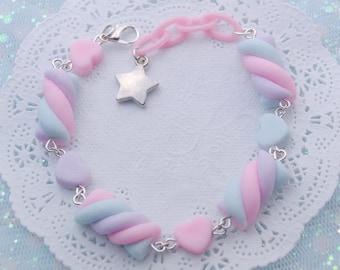 Cute Unicorn Cat bracelet girly pop pastel goth style jewellery Fairy kei 90/'s plastic accessory kawaii charm