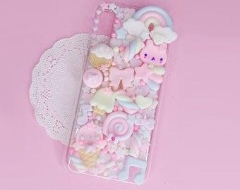 Kawaii Decoden Phone Case for Google Pixel 2 - XL - 3 - 3A -  3AXL - 4 - 4A - 5 - 5XL - Cookie Ice Cream