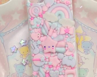 Kawaii Decoden Phone Case for Google Pixel 2 - XL - 3 - 3A -  3AXL - 4 - 4A - 5 - 5XL - Cute Galaxy