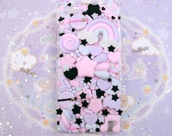 Kawaii Decoden Phone Case for Google Pixel 2 - XL - 3 - 3A -  3AXL - 4 - 4A - 5 - 5XL - Dark Galaxy