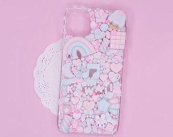Kawaii Decoden Phone Case for Google Pixel 2 - XL - 3 - 3A -  3AXL - 4 - 4A - 5 - 5XL - Fairy Kawaii