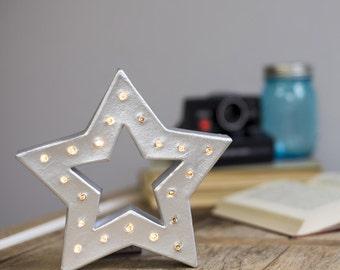 Freistehende Weihnachten sternförmige Festzelt Brief Licht - Batterie betrieben