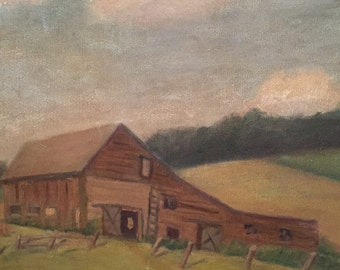 Original Barn Painting on Canvas