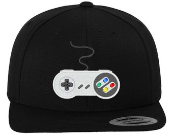 c502fc5529dc0 Gaming Controller embroidered Yupoong Snapback for true gamers and fans of  Nintendo