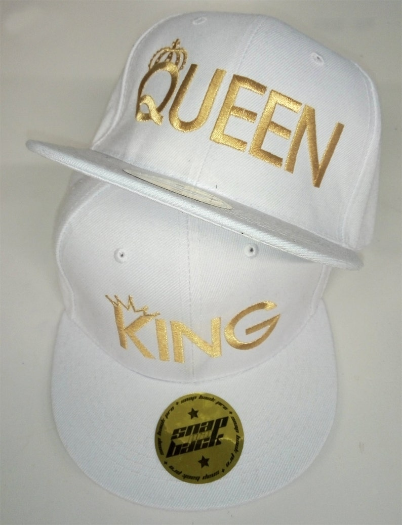 TWO Embroidered SnapBacks King   Queen summer baseball caps  845e5957b59e