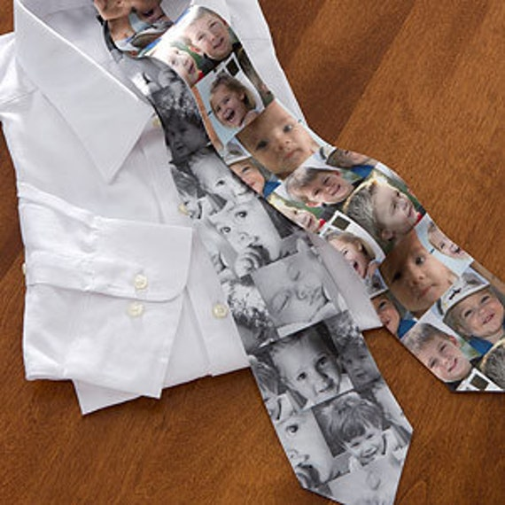 Photo Tie Collage with Multiple Photos