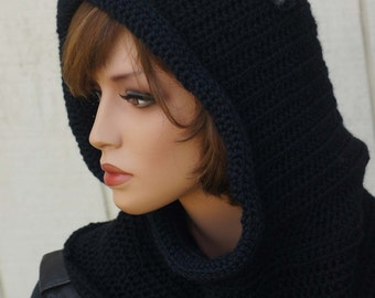 CROCHET PATTERN Hooded Cowl with Cat Ears Animal Cowl Pattern Crochet Hood  Pattern Hoodie with Ears Cat Scarf Pattern 7857db7adcb