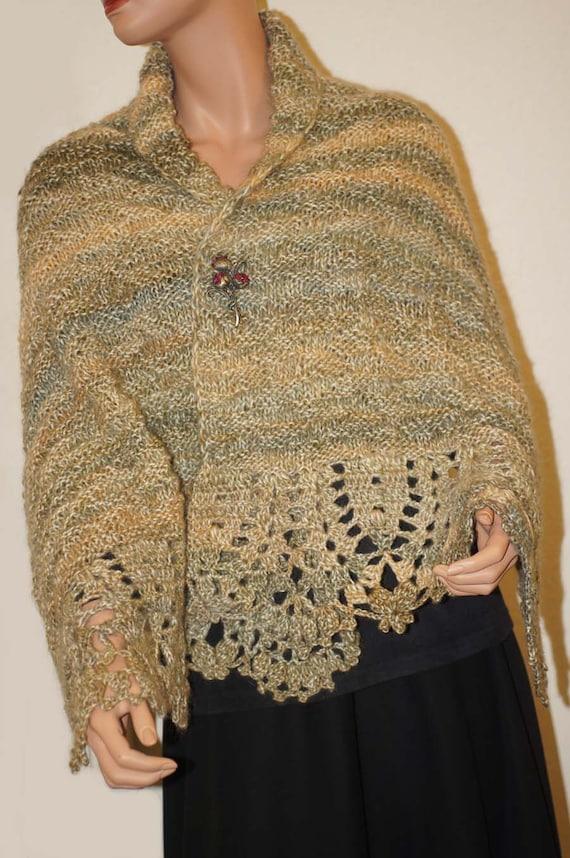 Crochet laine enrouler tricoter large écharpe pour femme au   Etsy 85fed5b40a5