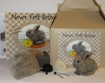 Wild Baby Bunny Needle Felting Kit