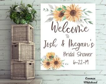 Bridal Shower, Welcome Sign, Bridal Shower Sign, Sunflower wedding, Bridal Shower Welcome, Baby Shower Welcome Sign, Floral Bridal Shower