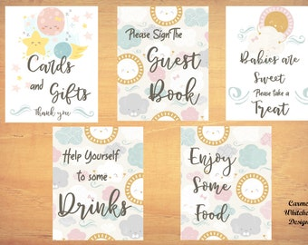 Baby shower printables, baby shower signs, baby girl shower sign,