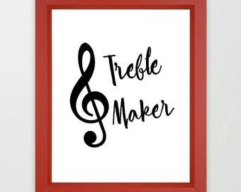 Music Teacher gift, music teacher sign, Teacher appreciation, gift for teacher, Instant download, classroom decor, Treble maker