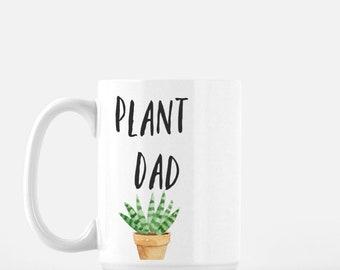 Plant Dad Mug, tea mug, plant lover coffee mug, Monstera Deliciosa mug