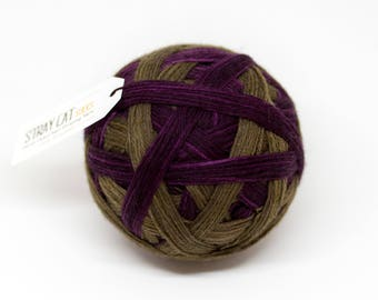 MILLICENT - vibrant hand dyed self striping sock yarn
