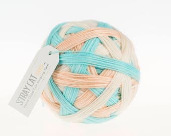IN THE MOMENT - vibrant hand dyed self striping sock yarn
