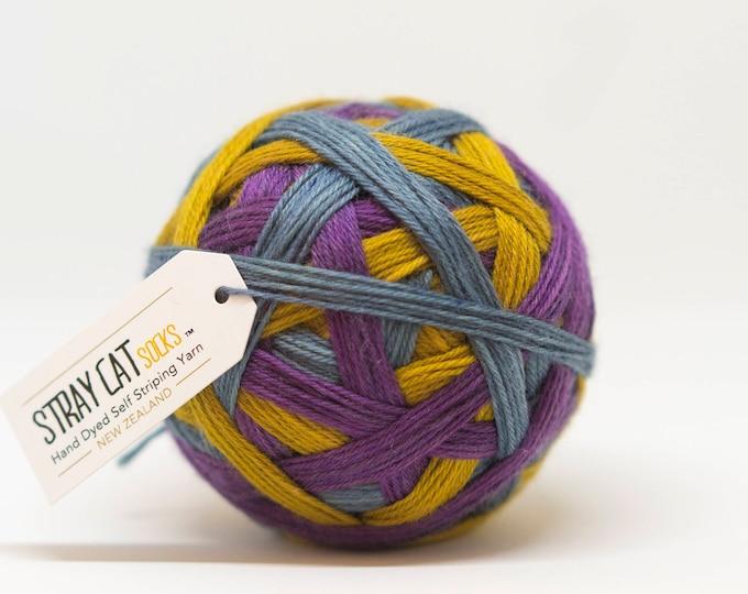 EQUINOX - vibrant hand dyed self striping sock yarn