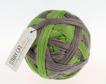 PERCY - vibrant hand dyed self striping sock yarn