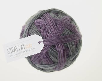 VICTORIA - vibrant hand dyed self striping sock yarn