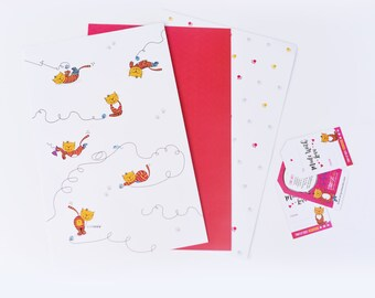 Stray Cat Gift Wrap & Tag Set